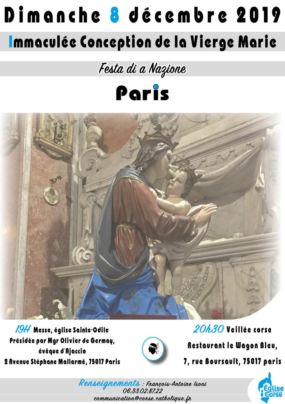 Messe Paris - Immaculée Conception de la Vierge Marie - Corse.catholique